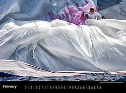 """Image from the Sander van der Borch 2014 Sailing Calendar. Orders may be placed using the """"Buy Calendar"""" button at the top of the screen."""