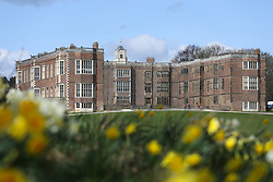 © Licensed to London News Pictures. 06/04/2016. Leeds, UK. Spring sunshine and flowers at Temple Newsam in Leeds, West Yorkshire. The  Tudor-Jacobean house which lies just outside Leeds is popular with day trippers and families. Photo credit : Ian Hinchliffe/LNP