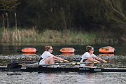 Caversham. Berkshire. UK<br /> Rebecca EDWARDS and Helen ROBERTS.<br /> 2016 GBRowing U23 Trials at the GBRowing Training base near Reading, Berkshire.<br /> <br /> Monday  11/04/2016 <br /> <br /> [Mandatory Credit; Peter SPURRIER/Intersport-images]