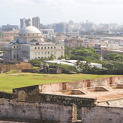 The view from atop Fort San Cristobal in San Juan, Puerto Rico.