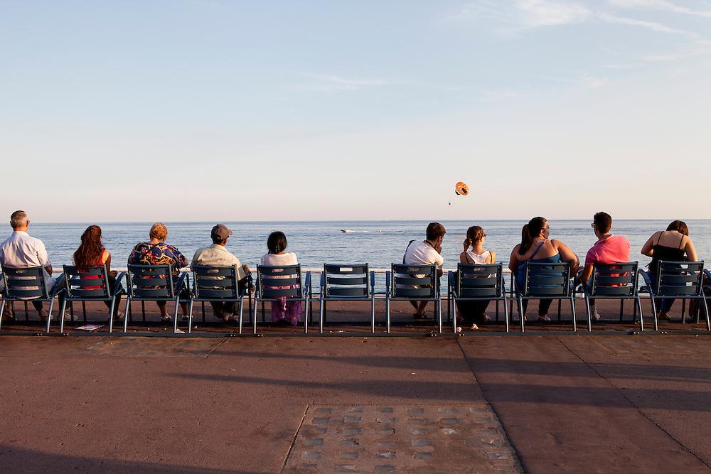 Nice, France, August 2013. Promenade des Anglais.