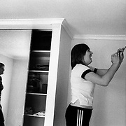 Jen (left) and Jane decorating the baby room at their home in  Sydney, Australia, October 2008. Photo by Tim Clayton..