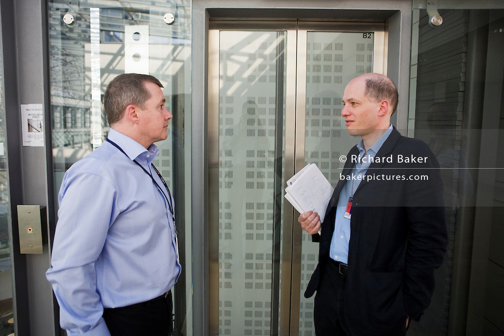 British Airways' Chairman, Willie Walsh interviewed by Alain de Botton at the company's Waterside corporate HQ