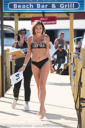 Brittany Whitehead in the annual bikini contest hosted by Jody Perewitz at the Naswa Beach Resort during Laconia Motorcycle Week 2016. NH, USA. Thursday June 16, 2016.  Photography ©2016 Michael Lichter.