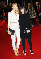 Tess Daly; Claudia Winkleman, I Give It A Year European Film Premiere, Vue West End cinema Leicester Square, London UK, 24 January 2013, (Photo by Richard Goldschmidt)