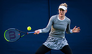 Alison Riske of the United States in action against Veronika Kudermetova of Russia during the first round at the 2021 Viking International WTA 500 tennis tournament on June 22, 2021 at Devonshire Park Tennis in Eastbourne, England - Photo Rob Prange / Spain ProSportsImages / DPPI / ProSportsImages / DPPI