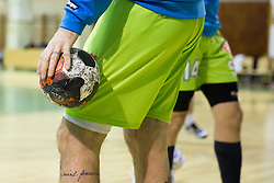 Ball during friendly handball match between National Teams of Slovenia and F.Y.R. of Macedonia before EHF EURO 2016 in Poland on January 4, 2015 in Sports hall Krsko, Krsko, Slovenia. Photo by Urban Urbanc / Sportida
