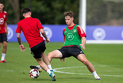 CARDIFF, WALES - Monday, August 31, 2020: Wales' Terry Taylor (Wolverhampton Wanderers FC) during a training session at the Vale Resort ahead of the UEFA Under-21 Championship Qualifying Round Group 9 match between Bosnia and Herzegovina and Wales. (Pic by David Rawcliffe/Propaganda)