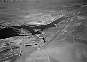 9305-A4670-01 Aerial. The Dalles Dam, Columbia River, 1955