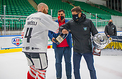 4# Tavzelj Andrej of HDD SIJ Acroni Jesenice during the final ceremony of Slovenia Cup 2020/21 between HDD SIJ Acroni Jesenice and HKMK Bled, on 19.09.2020 in Ljubljana, Slovenia. Photo by Urban Meglič / Sportida