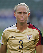 25 August 2007: Christie Rampone. The United States Women's National Team defeated the Women's National Team of Finland 4-0 at the Home Depot Center in Carson, California in an International Friendly soccer match.