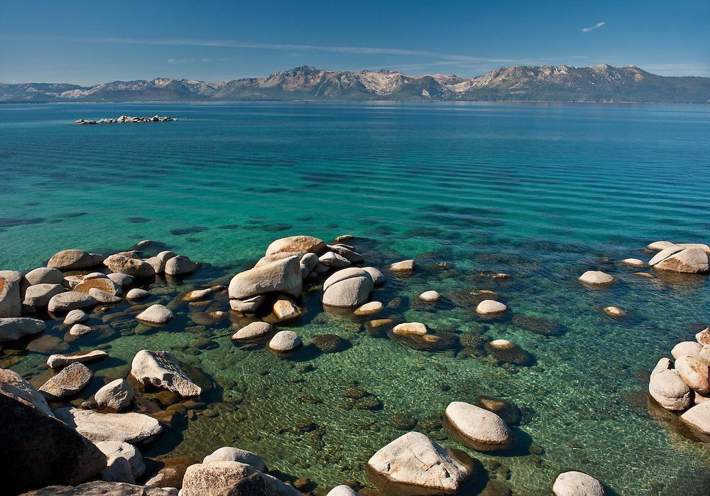Lake Tahoe Landscape Southshore Clear Water Lake Tahoe