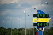 April 22-24, 2016: NHRA 4 Wide Nationals: NHRA timing board