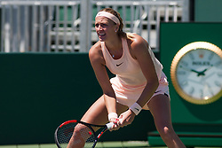 March 23, 2018 - Key Biscayne, FL, U.S. - KEY BISCAYNE, FL - MARCH 23: Petra Kvitova (CZE) in action on Day 5 of the Miami Open Presented at Crandon Park Tennis Center on March 23, 2018, in Key Biscayne, FL. (Photo by Aaron Gilbert/Icon Sportswire) (Credit Image: © Aaron Gilbert/Icon SMI via ZUMA Press)