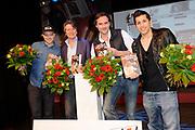 Presentatie 11e editie Top 40 Hitdossier en lancering nieuwe website www.top40.nl in De Vorstin, Hilversum.<br /> <br /> Op de foto:  Gers Pardoel, Erik de Zwart, Jeroen Nieuwenhuize en Jody Bernal