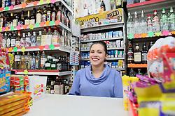 UK ENGLAND BOSTON 6SEP16 - Polish off-licence cashier Natalia Gierma (21) at Boston town centre.<br /> <br /> jre/Photo by Jiri Rezac<br /> <br /> © Jiri Rezac 2016