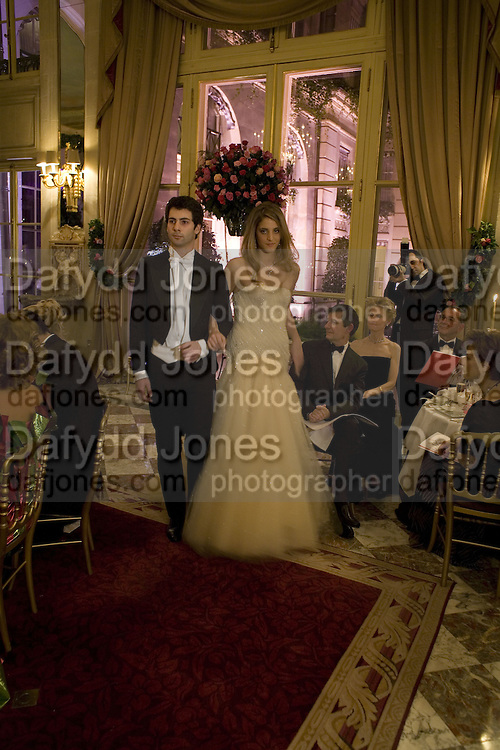 COMTESSE ANNA DE PAHLEN AND ERMANNO RIVETTI, Crillon Debutante Ball 2007,  Crillon Hotel Paris. 24 November 2007. -DO NOT ARCHIVE-© Copyright Photograph by Dafydd Jones. 248 Clapham Rd. London SW9 0PZ. Tel 0207 820 0771. www.dafjones.com.