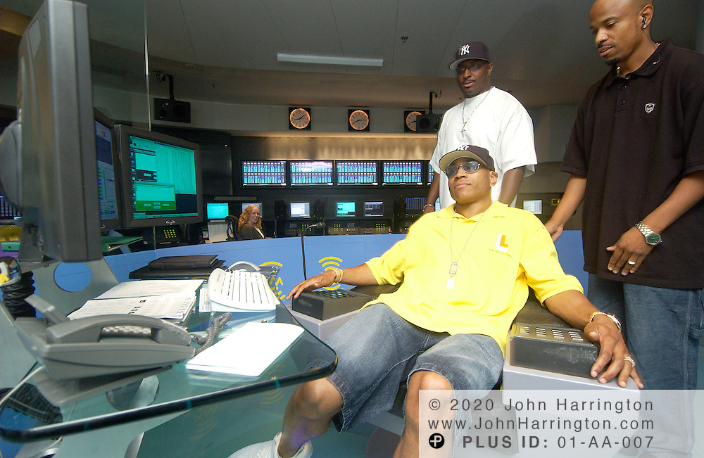 LL Cool J, hip-hop artist and movie actor, is being interviewed at XM's studios on  Thursday June 24, 2004.