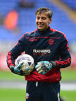 Bolton Wanderers's Will Jaaskelainen during the pre-match warm-up <br /> <br /> Photographer Chris Vaughan/CameraSport<br /> <br /> Football - The EFL Sky Bet League One - Bolton Wanderers v Fleetwood Town - Saturday 20 August 2016 - Macron Stadium - Bolton<br /> <br /> World Copyright © 2016 CameraSport. All rights reserved. 43 Linden Ave. Countesthorpe. Leicester. England. LE8 5PG - Tel: +44 (0) 116 277 4147 - admin@camerasport.com - www.camerasport.com