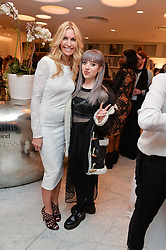 Left to right, MELISSA ODABASH and singer LEAH McFALL -  She was a runner-up on the second series of the BBC talent show The Voice at the Melissa Odabash & Future Dreams Preview to launch their collaborative mastectomy swimwear line in aid of the future dreams Haven appeal held at Fenwick, New Bond Street, London on 10th February 2015.