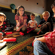 9/23/08 -- BATH, Maine. Sharon Pyne leads a group of children in a song at Bath Dance Works Preschool Music program on Tuesday morning. FMI call 522-3900 or email: sharonmusic@gwi.net. Photo by Roger S. Duncan.