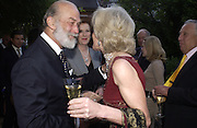 Prince Michael of Kent, the Dowager Coutess of Cawdor and Lady Annunziata Asquith, Cartier Flower show dinner, Chelsea Physic garden, 24 May 2004. ONE TIME USE ONLY - DO NOT ARCHIVE  © Copyright Photograph by Dafydd Jones 66 Stockwell Park Rd. London SW9 0DA Tel 020 7733 0108 www.dafjones.com