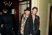 Matthew Williamson; Stephen Baccari- After -party celebrating the Gala Preview of the new west end production of Flare Path, Whitehall. March 10 2011.  -DO NOT ARCHIVE-© Copyright Photograph by Dafydd Jones. 248 Clapham Rd. London SW9 0PZ. Tel 0207 820 0771. www.dafjones.com.