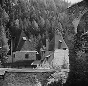 Finstergrün Castle with Forest in Background, Ramingstein, Austria, 1937