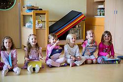 Plesni nastop, vrtec Rozle, skupina Metulji, on June 5, 2014 in Ljubljana Slovenia. Photo by Vid Ponikvar / Sportida