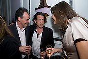 JAKE ARNOTT; STEPHEN WEBSTER; OLIVIA COLE, Launch of Stephanie Theobald's book' A Partial Indulgence'  drinks provided by Ruinart champage nd Snow Queen vodka. The Artesian at the Langham, 1c Portland Place, Regent Street, London W1