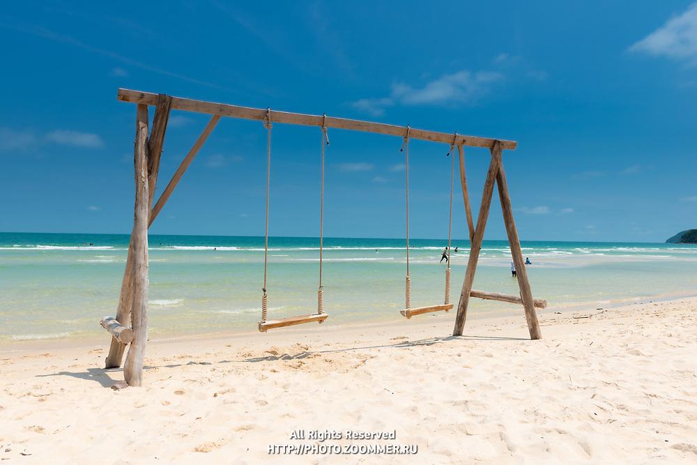 Swings In Bai Sao Beach, Phu Quoc, Vietnam