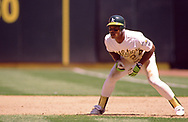 OAKLAND - 1990:  Rickey Henderson of the Oakland Athletics runs the bases during an MLB game at the Oakland Coliseum in Oakland, California during the 1990 season. (Photo by Ron Vesely)  Subject:   Rickey Henderson