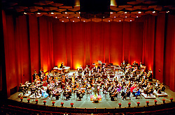 Stock photo of an orchestra concert performance