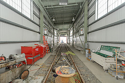 New Haven Rail Yard, Independent Wheel True Facility. CT-DOT Project # 0300-0139, New Haven CT.<br /> Photograph of Construction Progress Photo Shoot 37 on 24 July 2014. One of 54 Images Captured this Submission.
