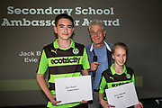 Phil Butterworth with the Secondary school ambassadors  during the Vanarama National League match between Forest Green Rovers and Maidstone United at the New Lawn, Forest Green, United Kingdom on 22 April 2017. Photo by Shane Healey.