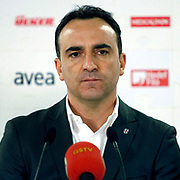 Besiktas's coach Carlos Carvalhal during their Turkish superleague soccer derby match Galatasaray between Besiktas at the TT Arena at Seyrantepe in Istanbul Turkey on Sunday, 26 February 2012. Photo by TURKPIX