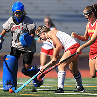 in the BVAL Girls Field Hockey Game at Westmont High School, Campbell CA on 8/24/17. (William Gerth/Max Preps)