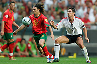 Lisbona 24/6/2004 <br />Euro2004 Quarter Final <br />Portugal England 8-7 after penalties (2-2) <br />Maniche of Portugal and Frank Lampard of England<br />Photo Andrea Staccioli Graffiti