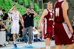 Aleksandar Dzikic, head coach of Serbia, during basketball match between National teams of Serbia and Latvia in Quarterfinal Match of U20 Men European Championship Slovenia 2012, on July 20, 2012 in SRC Stozice, Ljubljana, Slovenia. (Photo by Matic Klansek Velej / Sportida.com)
