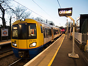 Gospel Oak overground train station in West London, UK. Gospel Oak is an inner urban area of north London in the London Borough of Camden at the very south of Hampstead Heath. The neighbourhood is positioned between Hampstead to the north-west, Dartmouth Park to the north-east, Kentish Town to the south-east.