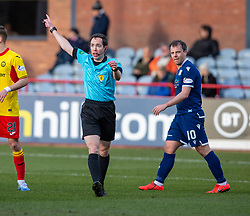 Ref Colin Steven. Dundee 2 v 0 Partick Thistle, Scottish Championship game played 8/2/2020 at Dundee stadium Dens Park.
