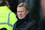 Everton Manager Ronald Koeman looks on prior to kick off. Premier league match, Everton v Swansea city at Goodison Park in Liverpool, Merseyside on Saturday 19th November 2016.<br /> pic by Chris Stading, Andrew Orchard sports photography.