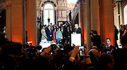 Koning Willem Alexander en Koningin Maxima bezoeken Stuttgart<br /> <br /> King Willem Alexander and Queen Maxima in Germany / Stuttgart.<br /> <br /> Op de foto / n the photo: <br />   Ronde tafel bijeenkomst in het Neues Schloss met Nederlands en Duits bedrijfsleven.<br /> <br /> Round table meeting at the Neues Schloss with Dutch and German business.