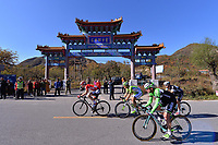 Illustration, Chinese Temple, VERMOTE Julien (BEL), BOIVIN Guillaume (CAN), BROWN Graeme (AUS), VALLEE Boris (BEL), , during the Stage 4,  Yanqing - Mentougou Miaofeng Mountain 1003m (157Km) of the 4th Tour of Beijing 2014, China, on October 13, 2014. Photo Tim de Waele / DPPI
