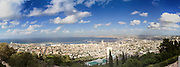Israel, Haifa panoramic view of the Haifa Bay