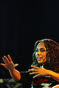 Alicia Keys at the Dr. Barbara Ann Teer's Institute of Action Arts launch for the 41st  Communication Arts Program Symposium held at The National Black Theater in Harlem, NY on March 27, 2009