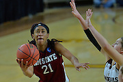 March 18, 2016; Tempe, Ariz;  New Mexico State Aggies guard Tamera William (21) puts up a shot during a game between No. 2 Arizona State Sun Devils and No. 15 New Mexico State Aggies in the first round of the 2016 NCAA Division I Women's Basketball Championship in Tempe, Ariz. The Sun Devils defeated the Aggies 74-52.