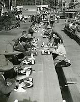 1938 Lunch time at Samuel Goldwyn Studios