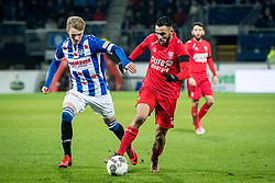 (L-R) Martin Odegaard of sc Heerenveen, Oussama Assaidi of FC Twente during the Dutch Eredivisie match between sc Heerenveen and FC Twente Enschede at Abe Lenstra Stadium on February 03, 2018 in Heerenveen, The Netherlands