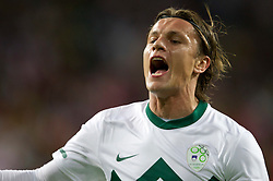 Zlatko Dedic of Slovenia during the 2010 FIFA World Cup South Africa Group C Third Round match between Slovenia and England on June 23, 2010 at Nelson Mandela Bay Stadium, Port Elizabeth, South Africa. England defeated Slovenia 1-0 and qualified for the next round, Slovenia not. (Photo by Vid Ponikvar / Sportida)